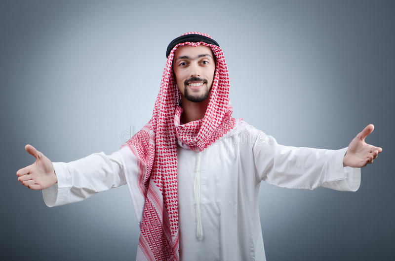 arabiskt ståendebarn royaltyfri foto