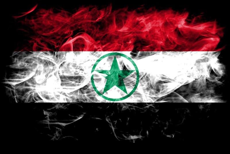 Arabistan rökflagga, Iran beroende territoriumflagga arkivbild
