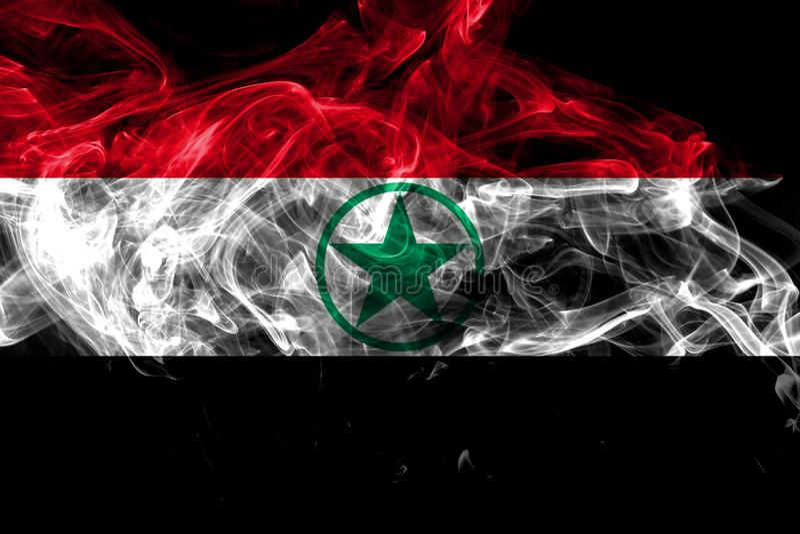 Arabistan r?kflagga, Iran beroende territoriumflagga royaltyfri illustrationer