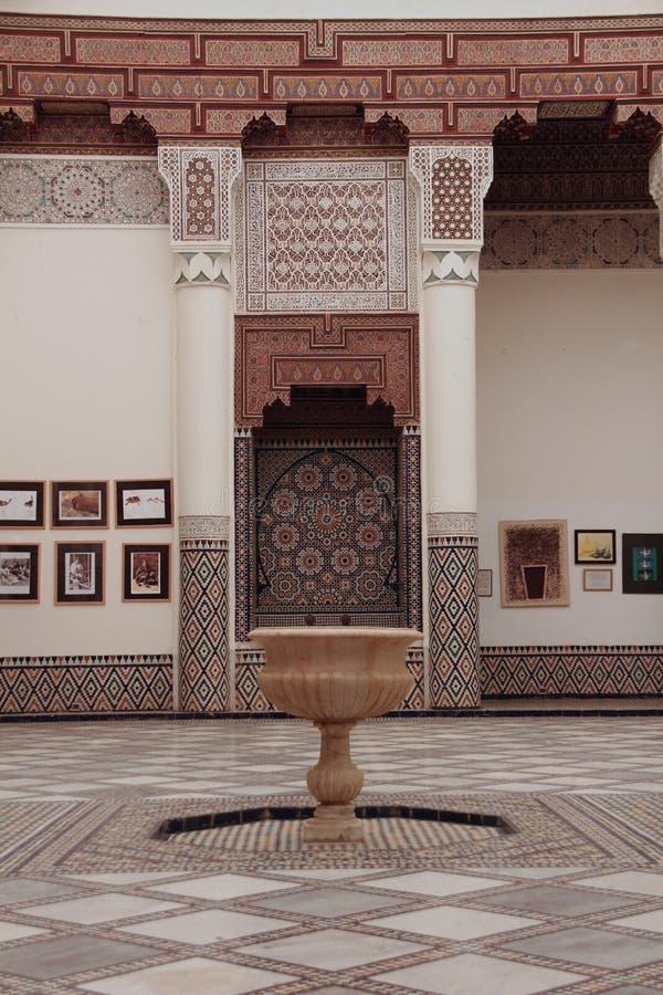 Arabo della fontana del mosaico immagine stock libera da diritti