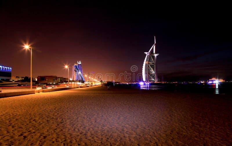 Arabo di Al di Burj un hotel di 7 stelle fotografia stock libera da diritti