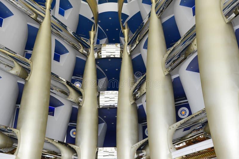 Arabo di Al di Burj dell'hotel, Dubai fotografie stock
