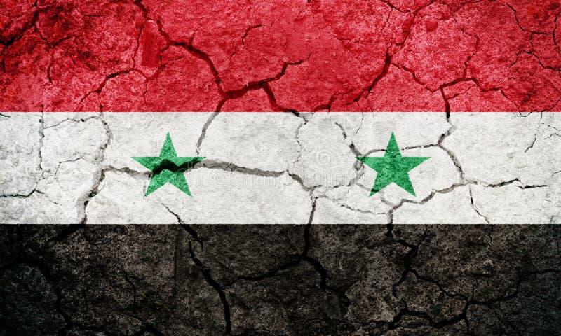 Arabrepubliken Syrien flagga stock illustrationer