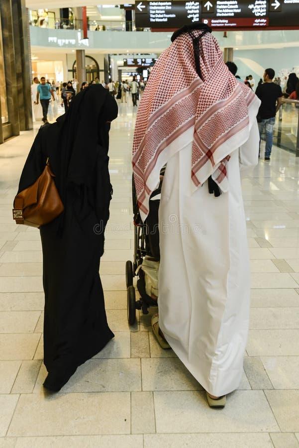 Arabs at Dubai Airport stock image