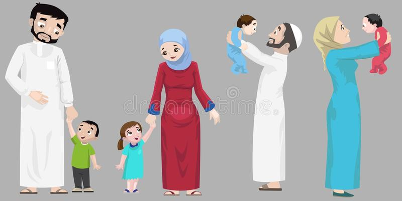 Arabs- Hanging Out With Children stock photography