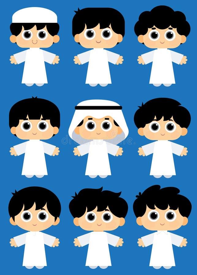 Arabscy dzieciaki ilustracji