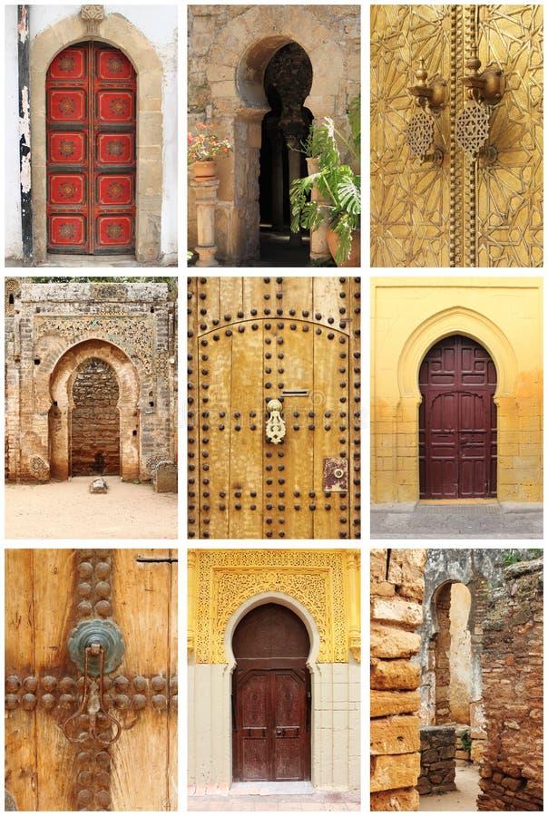 Arabscy orientalni projektujący drzwi zdjęcie royalty free