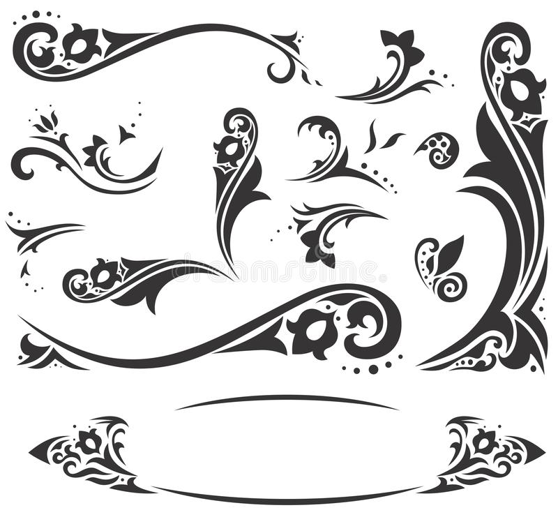 Arabscy ornamenty ilustracja wektor