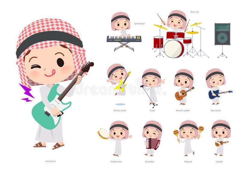 Arabska boy_pop muzyka ilustracji