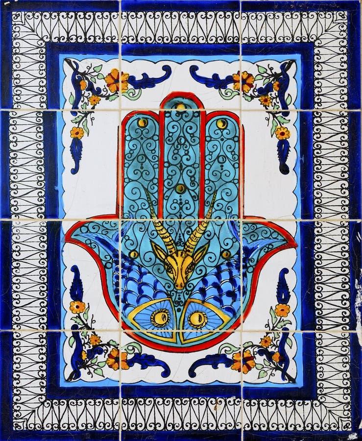 arabska ceramiczna dekoraci stylu ściana zdjęcie stock