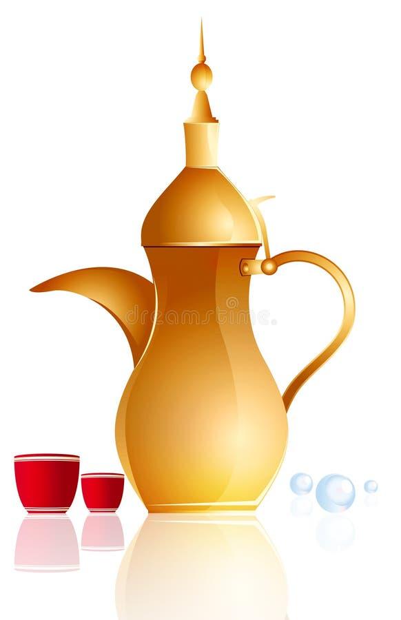 arabska kawa royalty ilustracja