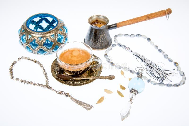 Arabska kawa w studiu obrazy royalty free