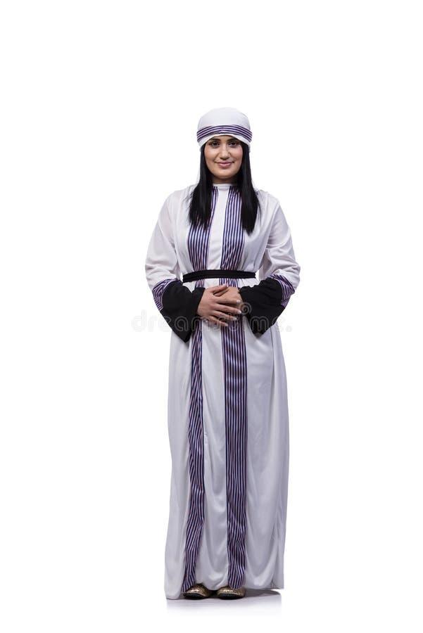 Arabska kobieta odizolowywająca na białym tle obraz royalty free