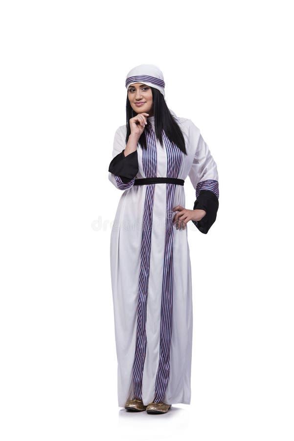Arabska kobieta odizolowywająca na białym tle obrazy stock