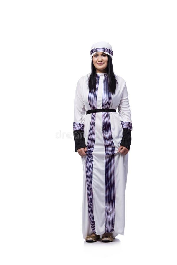 Arabska kobieta odizolowywająca na białym tle zdjęcie royalty free