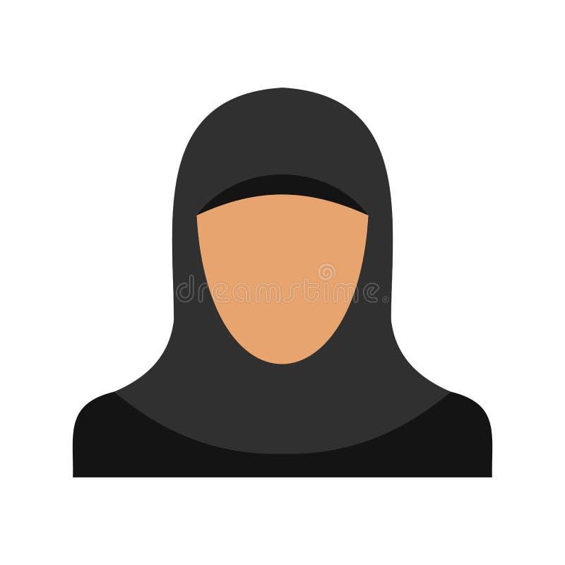 Arabska kobiety ikona, mieszkanie styl ilustracji