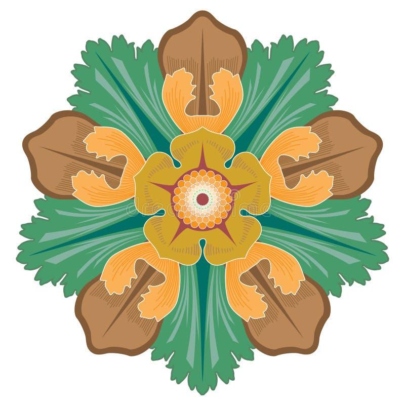 Arabska Kwiecista Bezszwowa granica Tradycyjny Islamski projekt Meczetowy dekoracja element ()- Wektor kartoteka royalty ilustracja