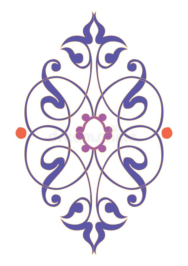 Arabska Kwiecista Bezszwowa granica Tradycyjny Islamski projekt Meczetowy dekoracja element ()- Wektor kartoteka ilustracji