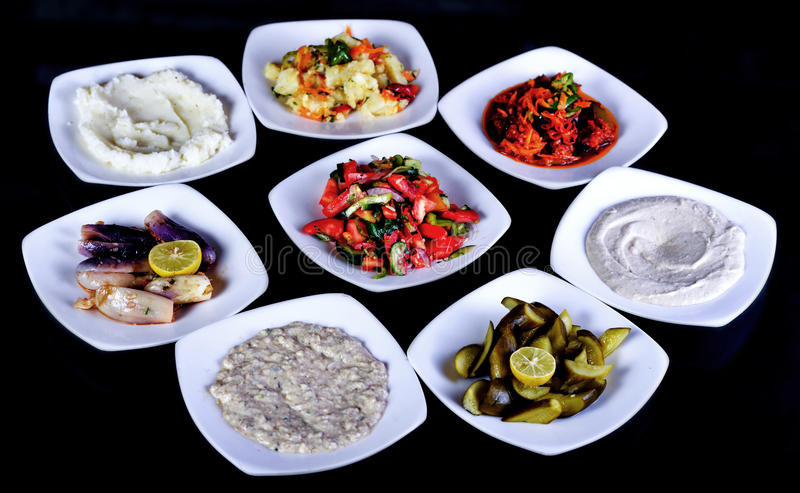 Arabska sałatka - pomidorowa sałatka zdjęcia stock