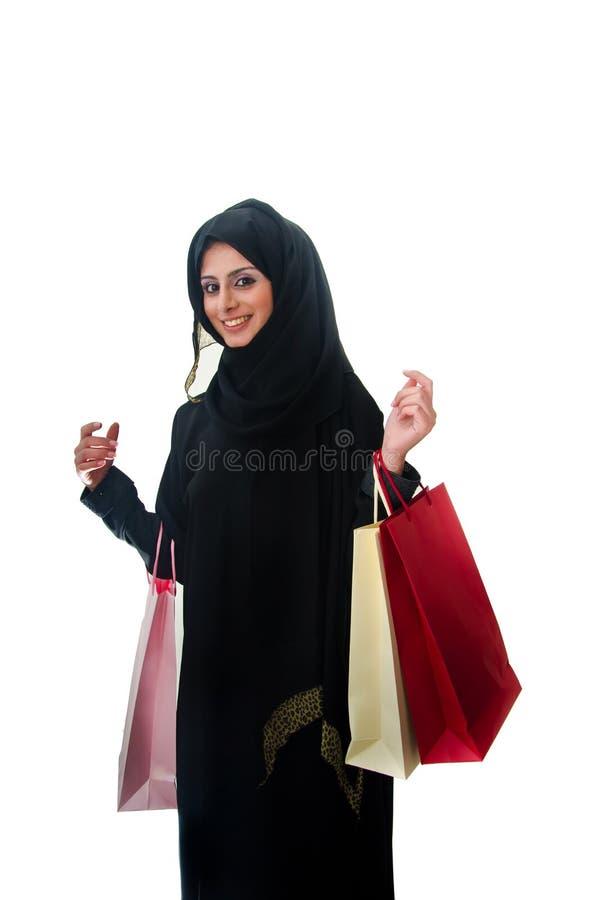arabski żeński zakupy obrazy royalty free