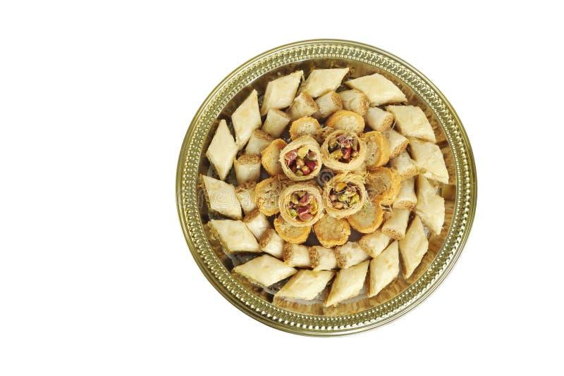 arabski asortowany baklava cukierków wierzchołek zdjęcia stock