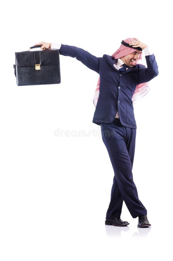 Arabski Biznesmen Odizolowywający Zdjęcie Stock
