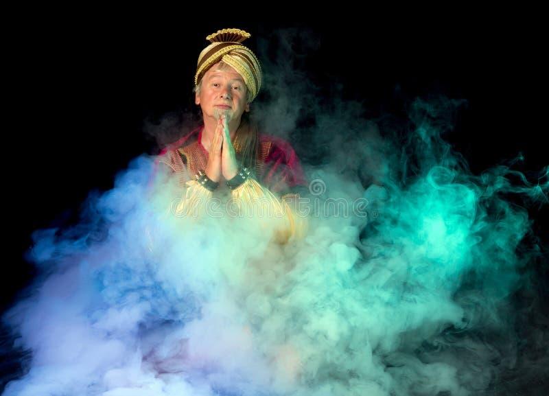 Arabski duch w mgle fotografia royalty free