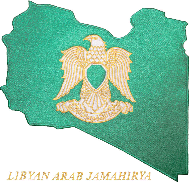 arabski emblemata jamahirya libijczyk zdjęcia stock