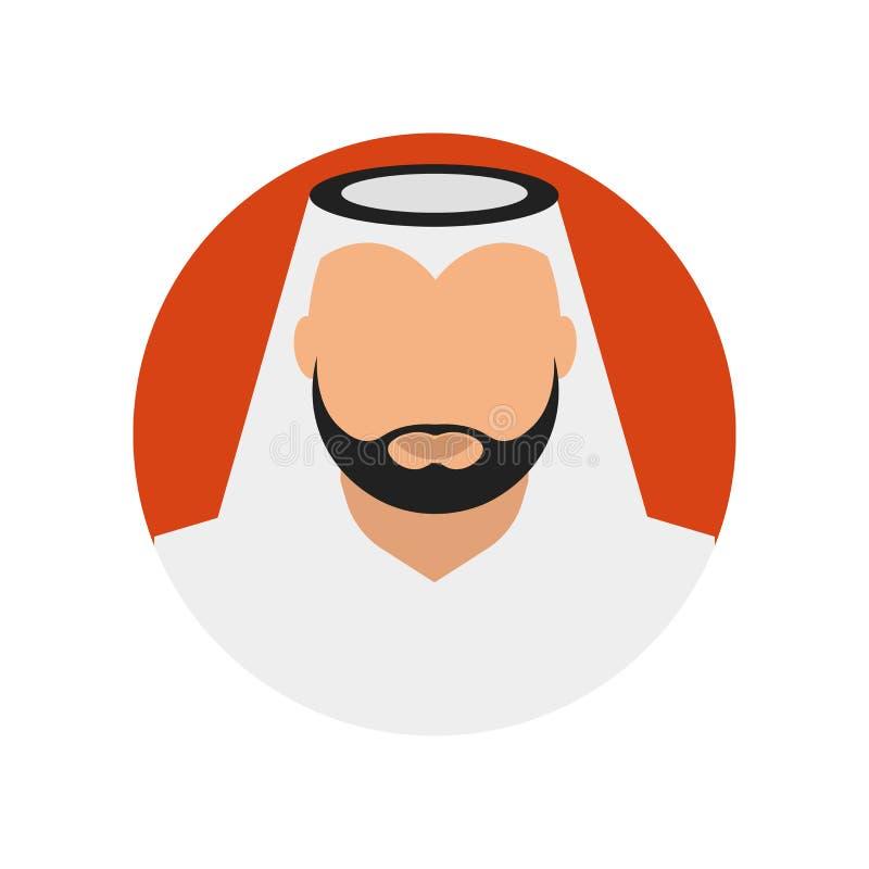 Arabski ikona wektoru znak i symbol odizolowywający na białym tle, Arabski logo pojęcie ilustracji