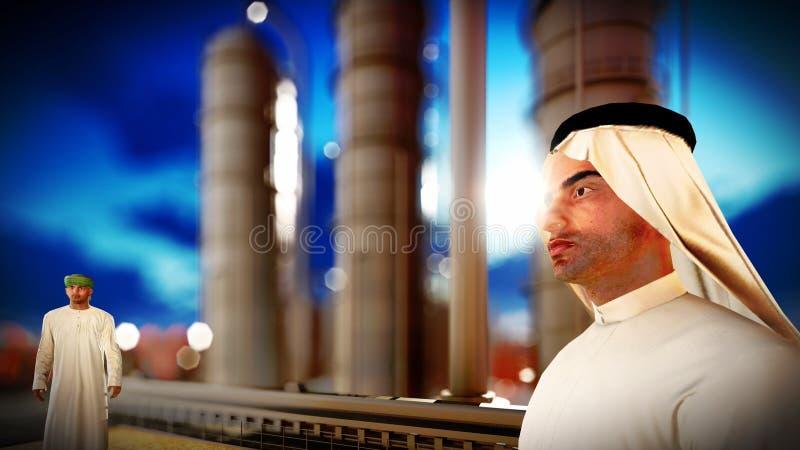 Arabski inżynier przy rafinerią ropy naftowej fotografia royalty free