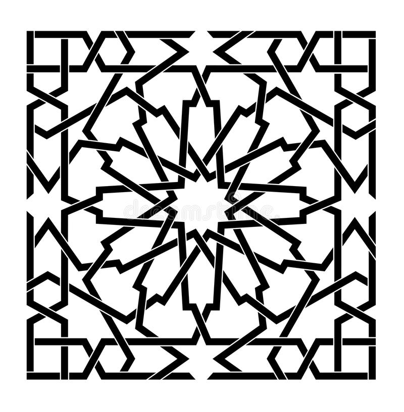 Arabski islamski wektoru wzór obraz stock