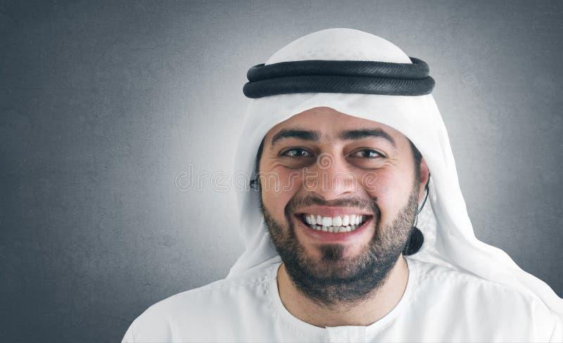 arabski ja target379_0_ biznesmena pomyślny obraz royalty free