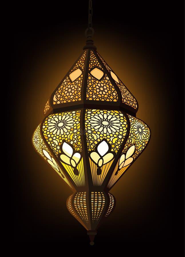 Arabski Lampion ilustracja wektor