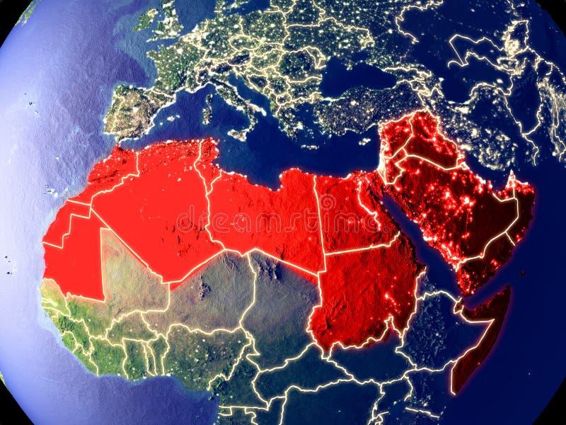 Arabski liga na ziemi przy nocą zdjęcie stock