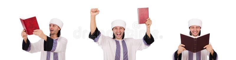 Arabski mężczyzna odizolowywający na bielu zdjęcie royalty free
