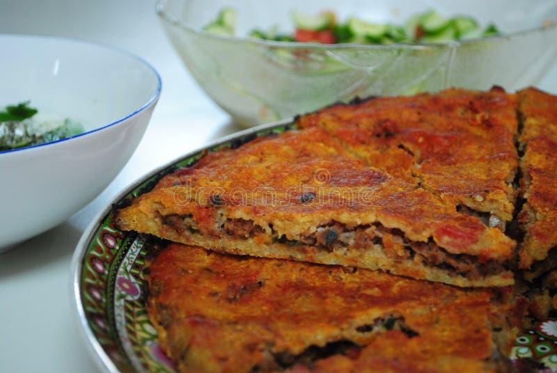 Arabski mięsny kulebiak obraz royalty free