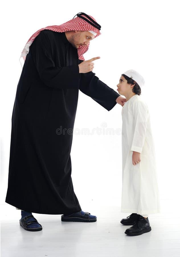 arabski ojca muslim syn zdjęcia royalty free