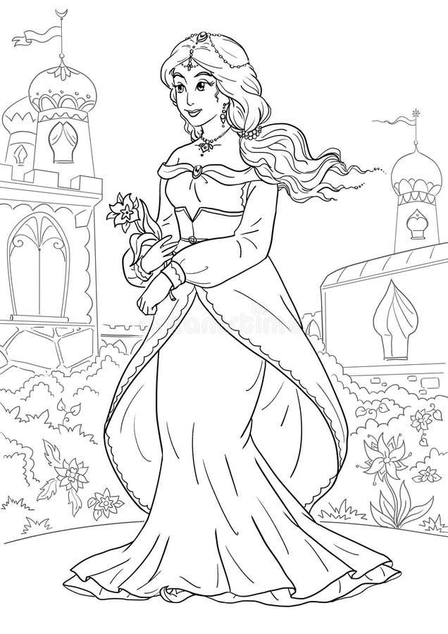 Arabski Princess royalty ilustracja