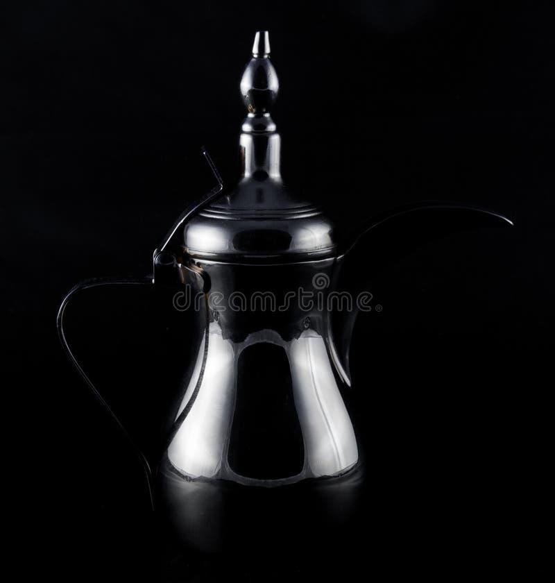 Arabski srebny kawowy garnek zdjęcia stock