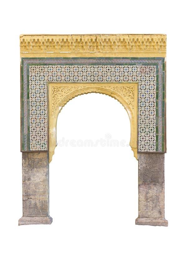 Download Arabski łuku arquitecture obraz stock. Obraz złożonej z wierza - 65225921
