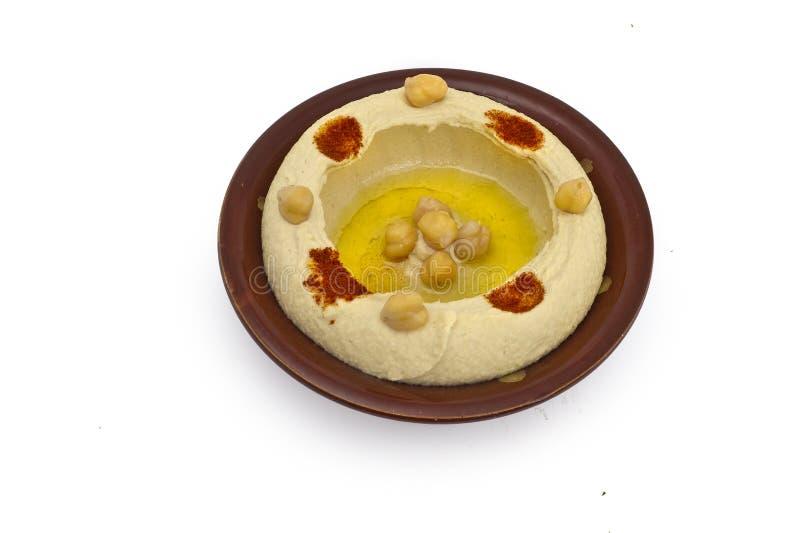 arabskiego chickpea hummus śródziemnomorski tahina fotografia royalty free