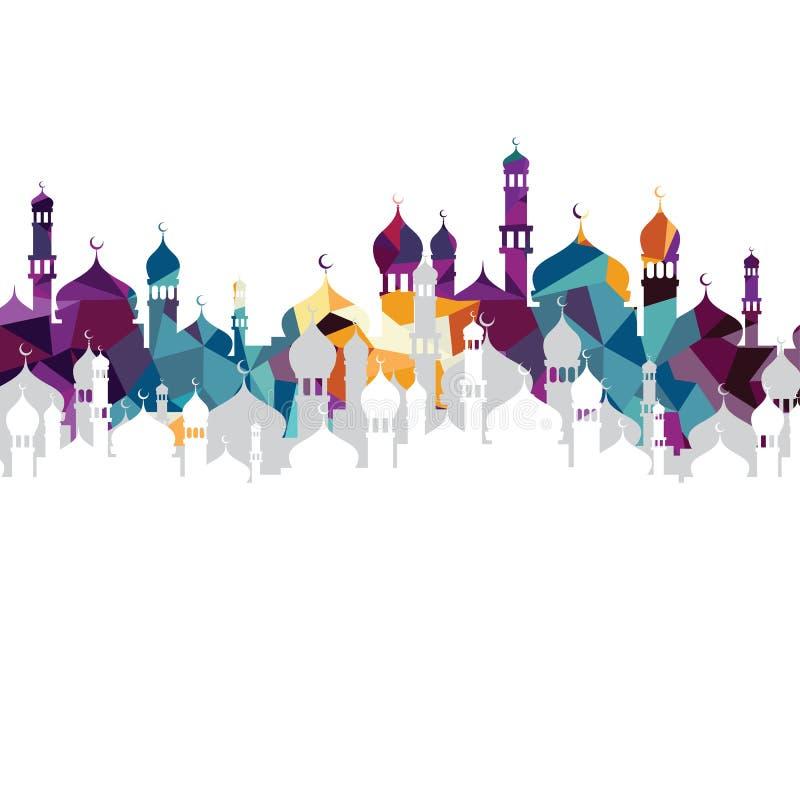 arabskiego islamu sztuki meczetowy abstrakt royalty ilustracja
