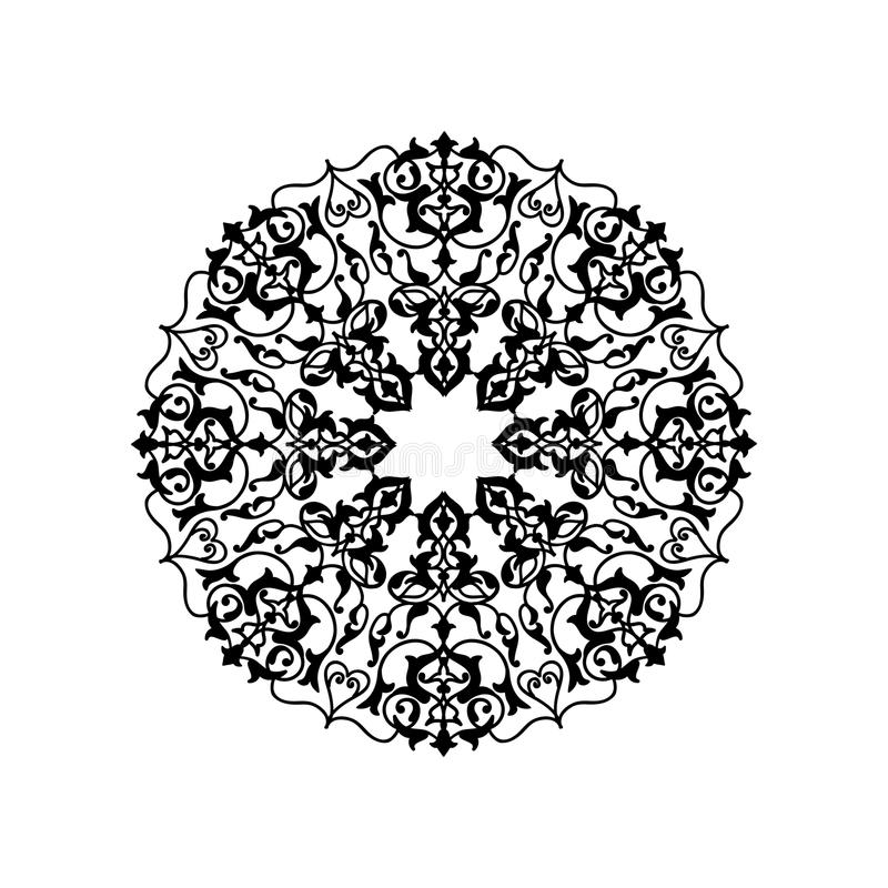 Arabskiego ornamentu mandala Orientalny etniczny kwiat pattrern royalty ilustracja