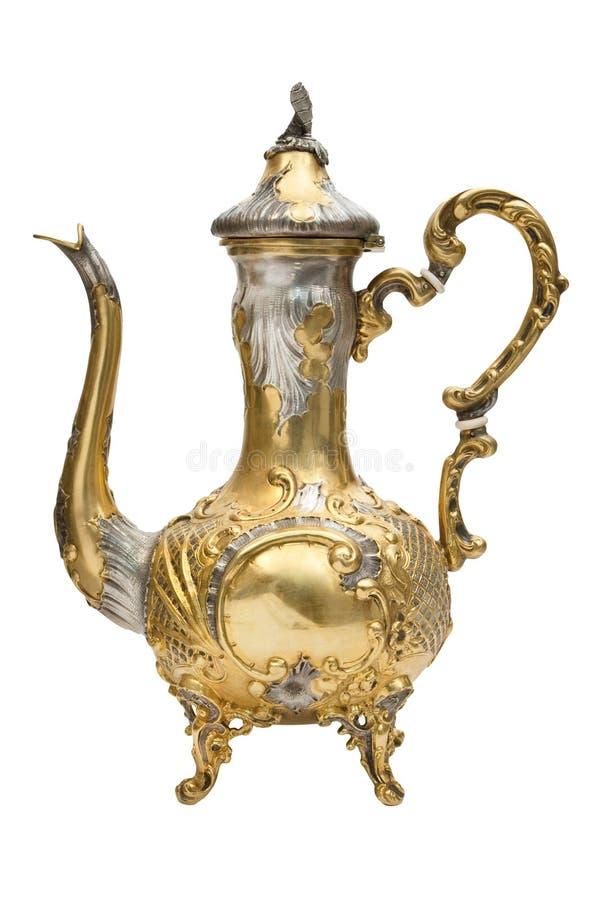 arabskiej kawy pozłoty garnek fotografia royalty free