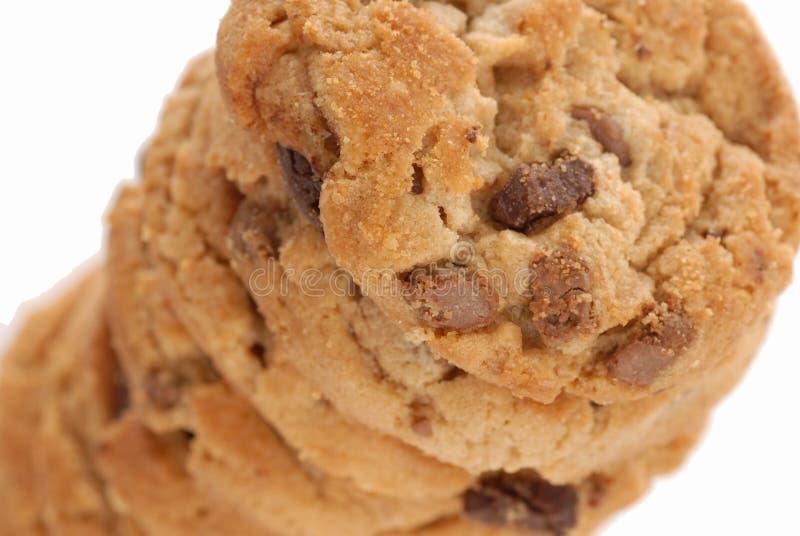 arachide de biscuits de chocolat de puce de beurre photographie stock
