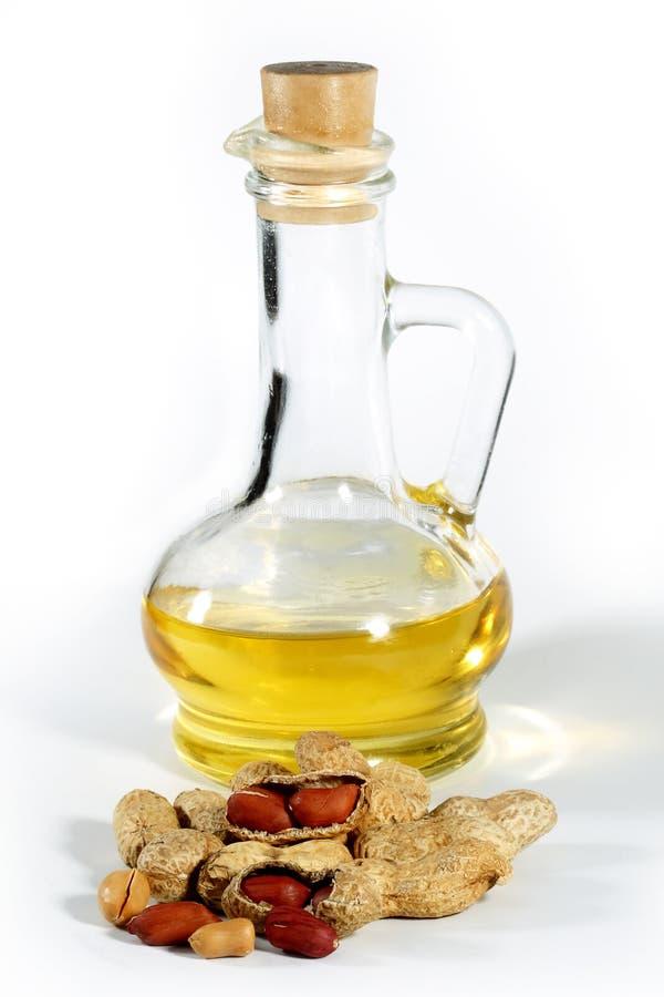Arachide, noix et pétrole photographie stock libre de droits