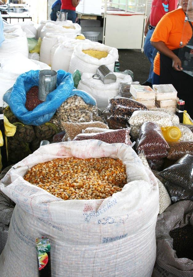 Arachides de noix du brésil de maïs d'haricots photo libre de droits