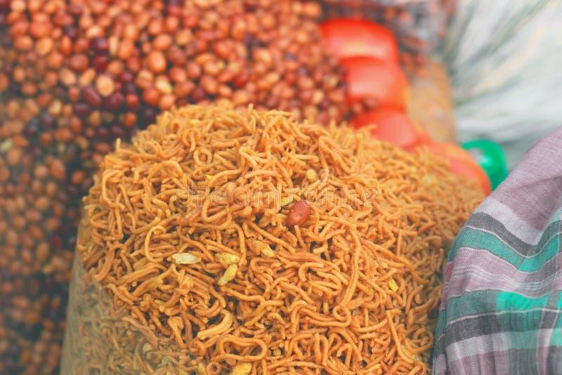 Arachides frites, fin  image stock