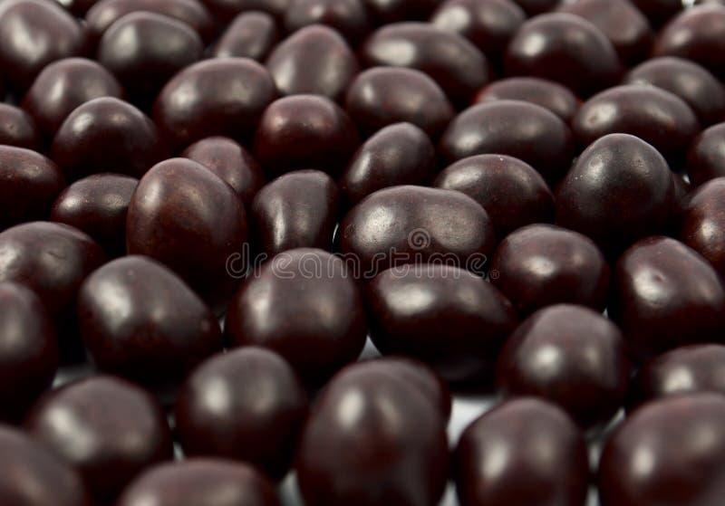Arachidi o mandorle coperte di cioccolato immagine stock libera da diritti
