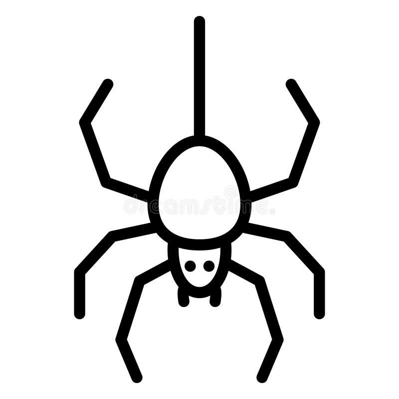Arachnid Isolated Vector Icon, das leicht zu ändern oder zu bearbeiten ist lizenzfreie abbildung